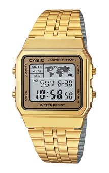 Casio Women's Gold Stainless Steel Strap Watch A500WGA-9DF