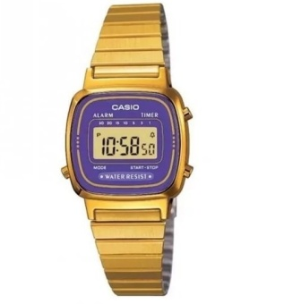 Casio Women's Gold Stainless Steel Strap Watch LA670WGA-6DF