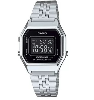 Casio Women's Silver Stainless Steel Strap Watch LA680WA-1BDF
