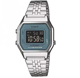 Casio Women's Silver Stainless Steel Strap Watch LA680WA-2BDF