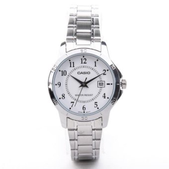 Casio Women's Silver Stainless Steel Strap Watch LTP-V004D-7BUDF