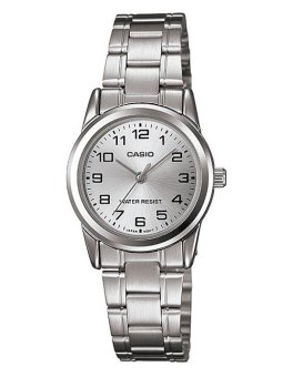 Casio Women's Silver Stainless Steel Strap Women Watch LTP-V001D-7B