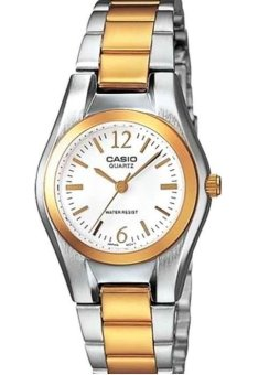 Casio Women's Stainless Steel Strap Watch LTP-1253SG-7ADF (Gold/Silver)