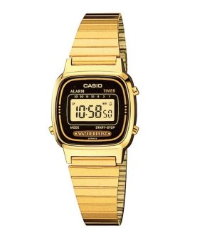 Casio Women's Gold Stainless Steel Strap Watch LA670WGA-1DF