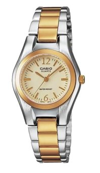 Casio Women's Two Tone Stainless Steel Strap Watch LTP-1253SG-9ADF