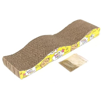 Cat Kitten Pet Scratching Corrugated Board Scratcher Post Pole BedPad Matt Toy - Intl