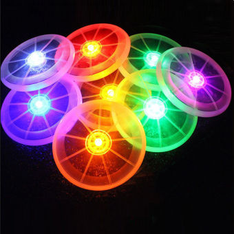 CatWalk Flying LED Disk Light Up Frisbee Outdoor Pets Toy(Multicolor) - intl