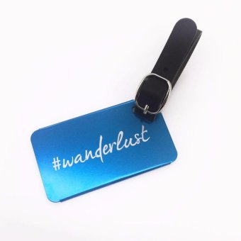 Cava C17MY765TU Wanderlust Aluminum Luggage Tag with PU Strap(Turquoise) Price Philippines