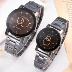 CE set of two, new style fashion men's watches female models steel strip Korean version of the retro watch couple on the table female student watch fashion ...