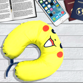 Celebrity Memory Foam Travel Neck Pillow U Shaped Cushion PikachuDesign