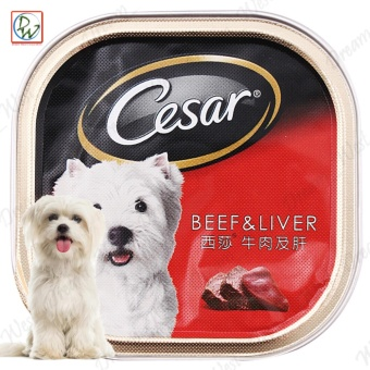 Cesar Beef & Liver Flavor Wet Dog Food 100g (4 pcs.)