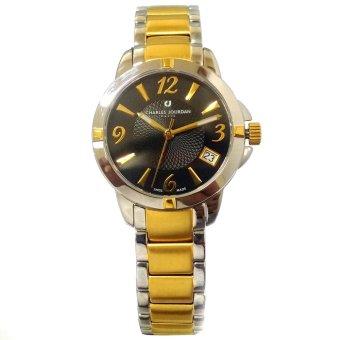 Charles Jourdan Like Two Tone Stainless Steel Strap Watch