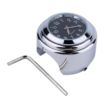 CHEER 1pc Waterproof Motorcycle Motorbike Handlebar Mount Round Dial Clock Accessory - intl
