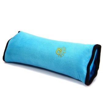 Children Car Soft Headrest Cushion Neck Pillow Shoulder Pad VehicleSeatbelt Blue- Intl - 2