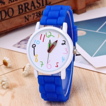 Children watch color digital silicone watches