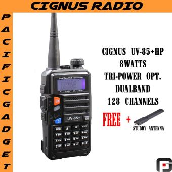Cignus Uv-85+HP Dual band 8watts NTC APPROVED two way radio with FM radio (Black)