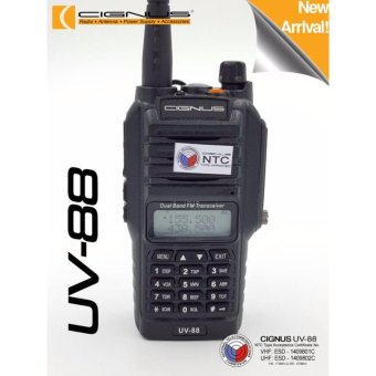 Cignus uv-88 Splash Proof UVF/VHF water resistant dual band two way radio (Black)