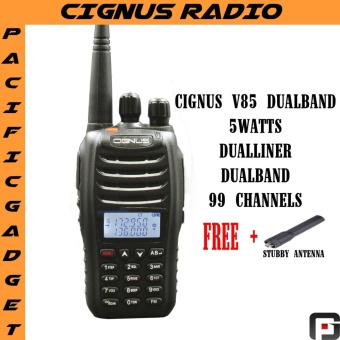 Cignus v85 dualband vhf/uhf portable two way radio with fm 2years warranty