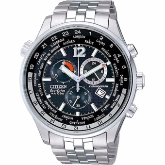 Citizen Eco-Drive Men's Watch Silver Stainless Steel StrapAT0365-56E - intl