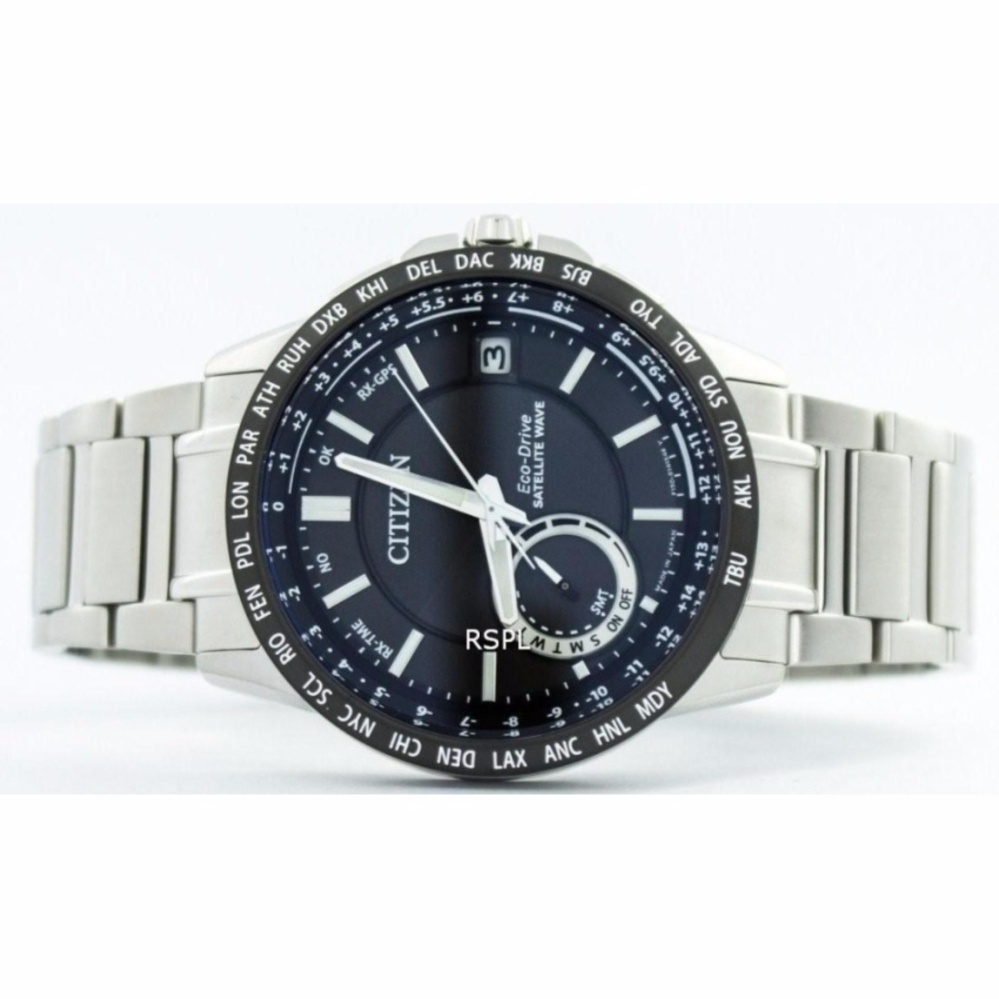 Philippines Citizen Eco Drive Satellite Wave World Time Japan Made Ca4285 50h Mens Silvertone Stainless Steel Strap Watch