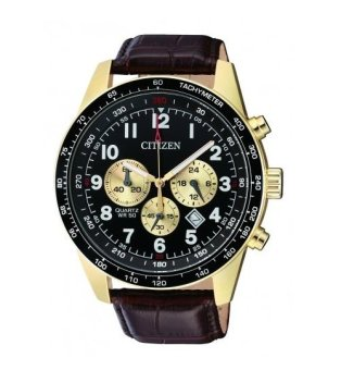 Citizen Men's Black Leather Strap Watch AN8162-06E - intl
