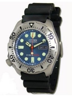 Citizen Promaster Diver's Blue Men's Rubber Strap Titanium Watch NY0054-04L