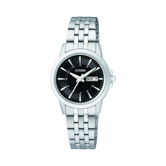 Citizen Quartz Standard Women's Silver Stainless Steel Strap Watch EQ0601-54E