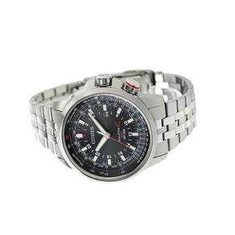 Citizen Watch Eco-Drive Promaster GMT Silver Stainless-Steel Case Stainless-Steel Bracelet Mens NWT + Warranty BJ7071-54E