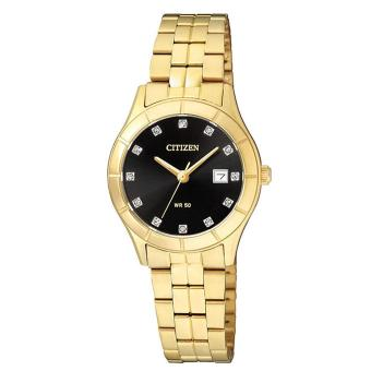 Citizen Watch Quartz Gold Stainless-Steel Case Stainless-Steel Bracelet Ladies NWT + Warranty EU6042-57E
