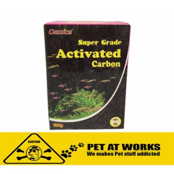Classica Super Grade Activated Carbon Filter (500g) for fish pond,aquarium tank, marine tank, planted tank