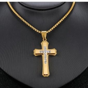 Where to buy classical jesus cross design necklaces pendants for classical jesus cross design necklaces pendants for men womenfashion vintage stainless steel cz diamond jewelry aloadofball Gallery