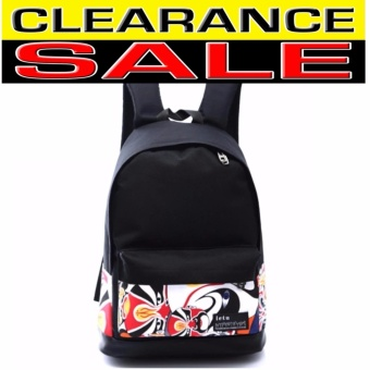 Clearance Sale !!! Pilot Canvas Fashion 5008 School Student Backpack Casual Outdoor Travel Backpack (Black)