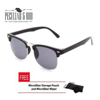 Clubmaster Classic Sunglasses with Black Flash Lenses R_3398