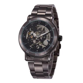 cokmp New Chronograph Clock 3ATM Automatic Stainless Men Full Steel Skeleton Watch Men Mechanical Mens Watch Wristwatch For Men (GrayBlack) Price Philippines