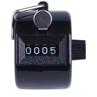 Color Digital Hand Held Tally Clicker Counter 4 Digit Number Clicker Golf Chrome - intl