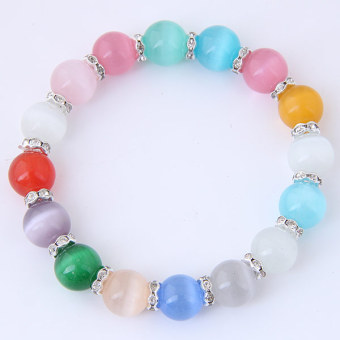 Concise European and American ol cat's eye stone women's bracelet