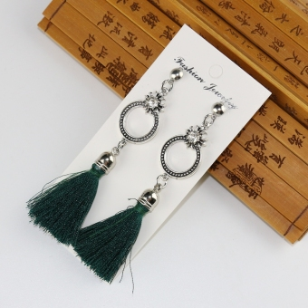 Cool European and American female earrings long tassled earrings