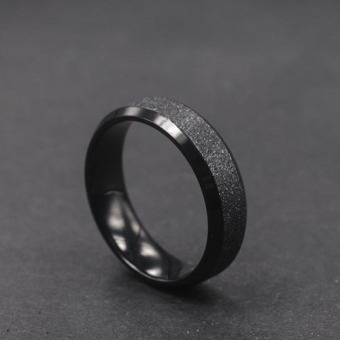Cool European and American matte titanium steel ring
