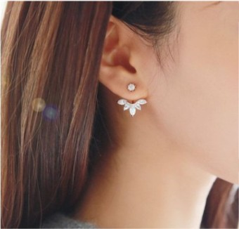 Cool female elegant earrings stud
