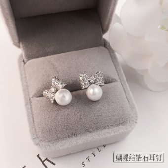 Cool female elegant hypoallergenic earrings pearl stud