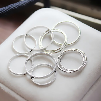 Cool Japan and South Korea female joint ring (Silver)