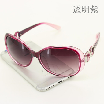 Cool Korean-style transparent round glasses sunglasses