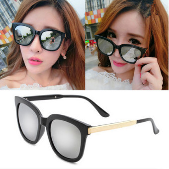 Cool polarized near-sighted glasses retro sunglasses