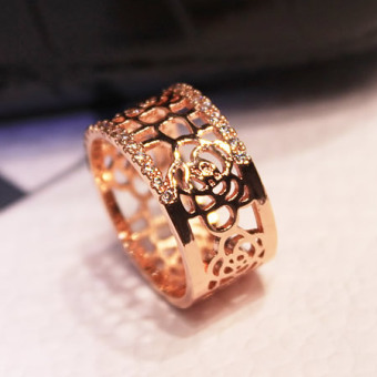 Cool porous rose joint ring (Rose Gold. Rose) (Rose Gold. Rose)
