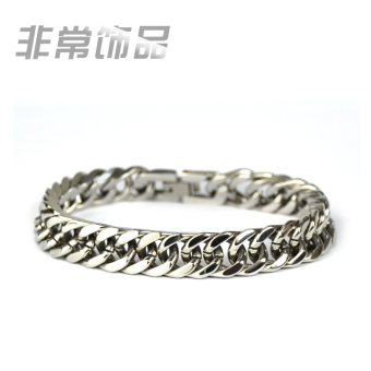 Cool simple Titanium Steel Flat snake bone bracelet men's bracelet