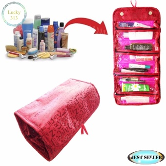 COSMETIC BAG ROLL-N-GO RED
