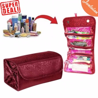 Cosmetic Make Up Travel Buddy Cosmetic Toiletry Bag (Maroon)