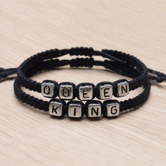 Couple Handmade Bracelets King And Queen His Hers Charm Bracelet Bangle Gift - intl