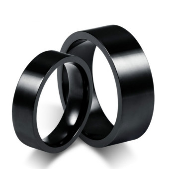 Couple Rings Titanium Steel Ring Wedding Band Black(Price is for aring)- Intl