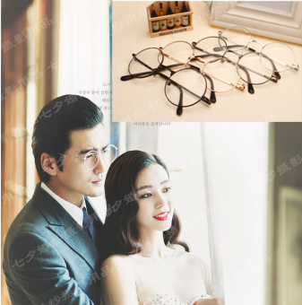 Couple's European and American Korean-style-round glasses photography props Price Philippines